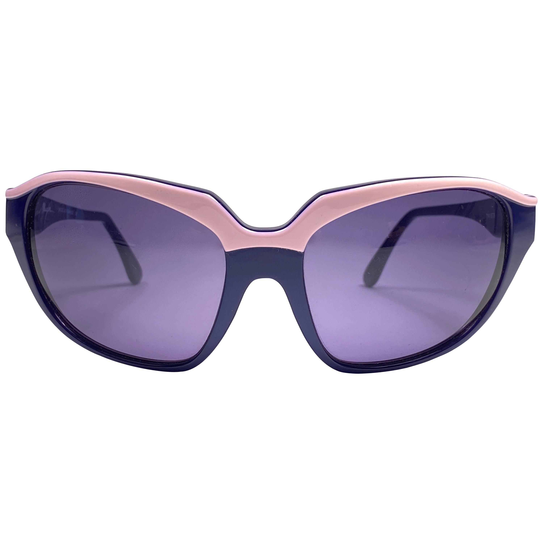Vintage Thierry Mugler Purple & Pink Bug Eye Medium Size 1980's Paris Sunglasses