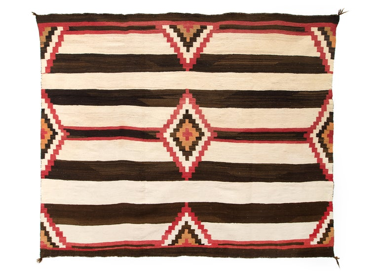Vintage Third Phase Navajo Chief S Blanket Circa 1900 For