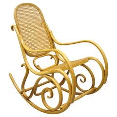 Vintage Thonet Bentwood Austrian Mid-Century Modern Rocker Rocking Chair