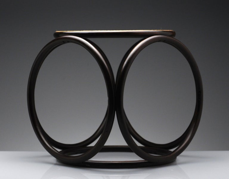 Vintage Thonet Bentwood Circular Stool In Good Condition For Sale In Washington, DC
