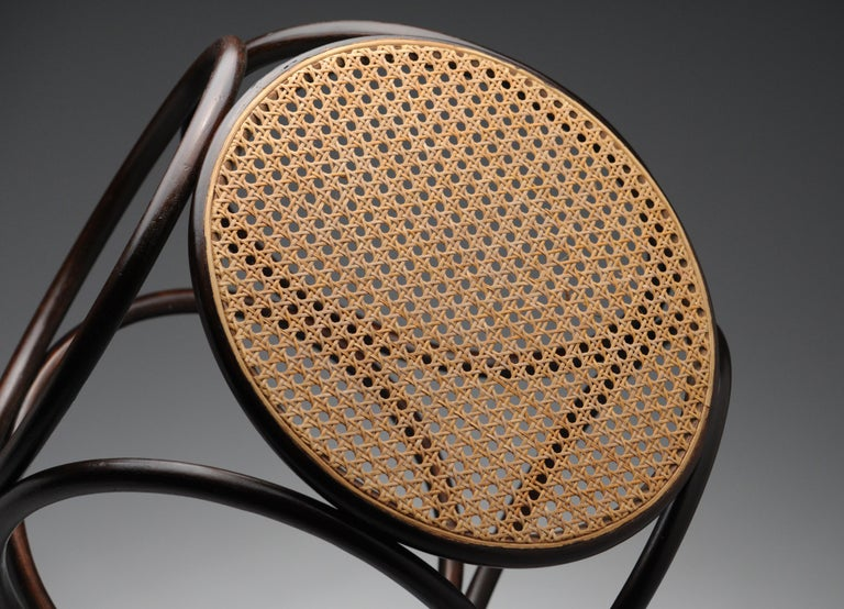 Vintage Thonet Bentwood Circular Stool For Sale 2