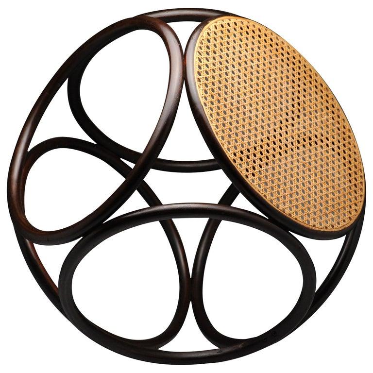 Vintage Thonet Bentwood Circular Stool For Sale