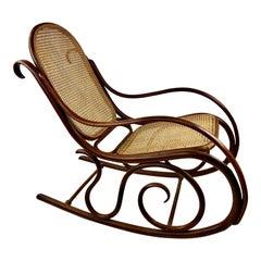 Vintage Thonet Bentwood Rocking Chair