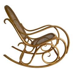 Vintage Thonet Schaukelstuhl Rocking Chair, Mid-Century Modern