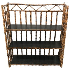 Vintage Three-Tier Bamboo Wall Hanging Shelf