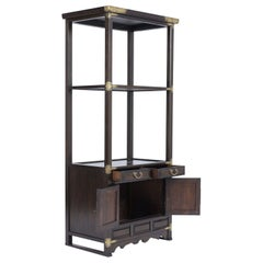 Vintage Three-Tiered Display Cabinet