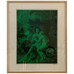 Vintage Tiber Press Framed Print, Adam & Eve