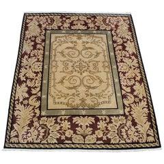 Vintage Tibetan Indo Nepal Oriental Handwoven Area Rug Carpet