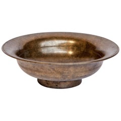 Vintage Tibetan / Nepali Tsampa Bowl, Bronze, Nepal, Early to Mid-20th Century