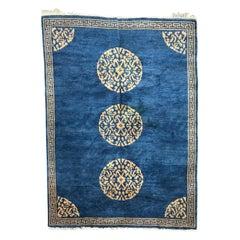 Vintage Tibetan Rug Nepalese Chinese Style Rug