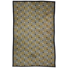 Vintage Tibetan Rug with Checkered Square Pattern and Modern Style