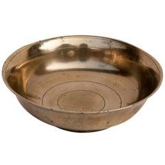Vintage Tibetan Tsampa Bowl, Bronze, Large, Nepal or Tibet, Mid-20th Century