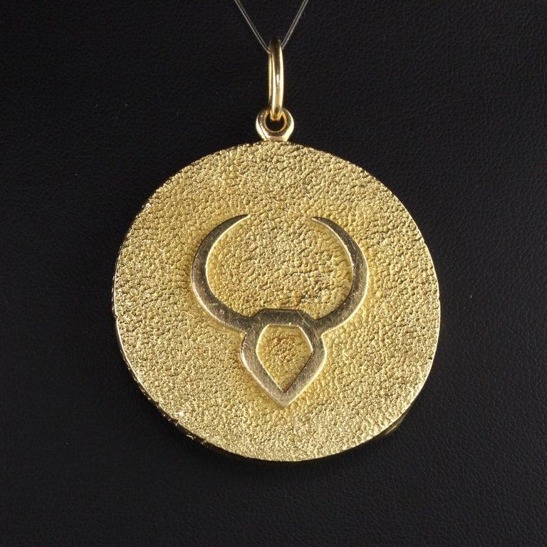 Women's or Men's Vintage Tiffany & Co. 18k Yellow Gold Taurus Zodiac Pendant