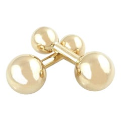 Vintage Tiffany & Co. 14 Karat Yellow Gold Barbell Cufflinks