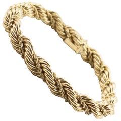 Vintage Tiffany & Co. 14 Karat Yellow Gold Rope Twist Bracelet