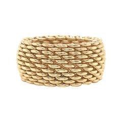 Vintage Tiffany & Co. 18 Karat Gold Mesh Band Ring