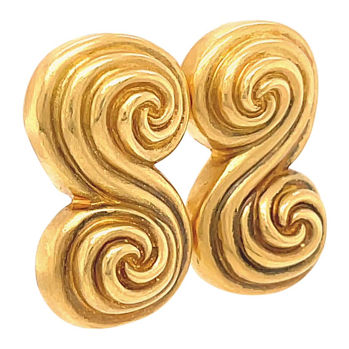 Vintage Tiffany & Co. 18 Karat Gold Spiro Earrings