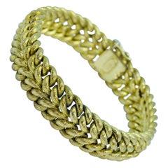 Vintage Tiffany & Co. 18 Karat Yellow Gold Double Curb Link Bracelet