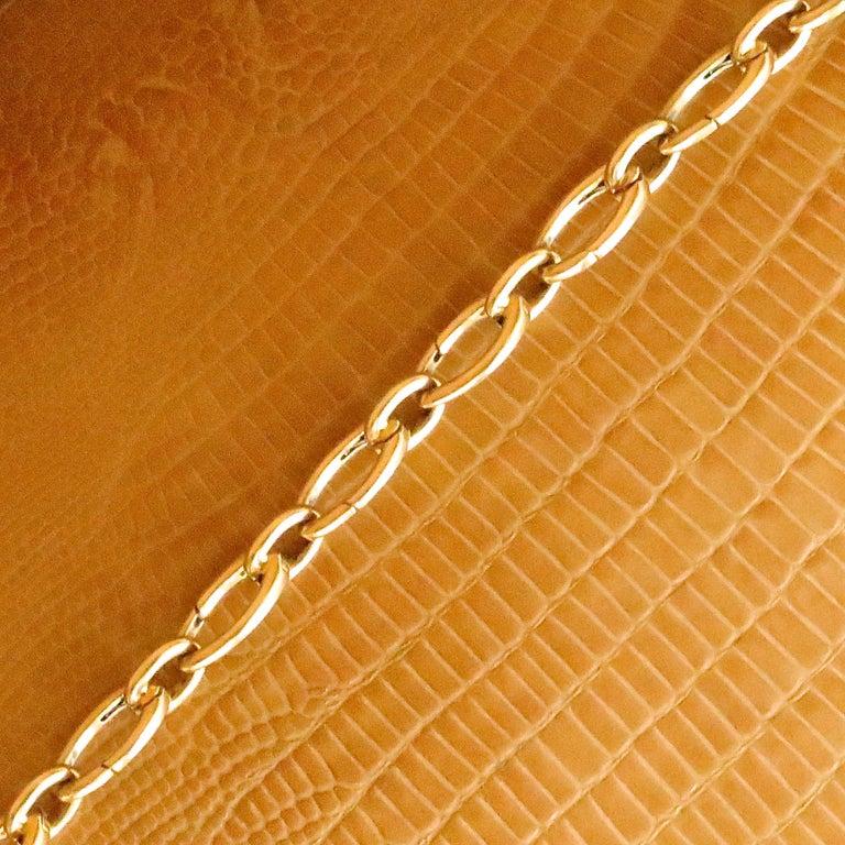 Vintage Tiffany & Co. 18 Karat Gold Link Charm Holder Bracelet In Good Condition For Sale In Beverly Hills, CA