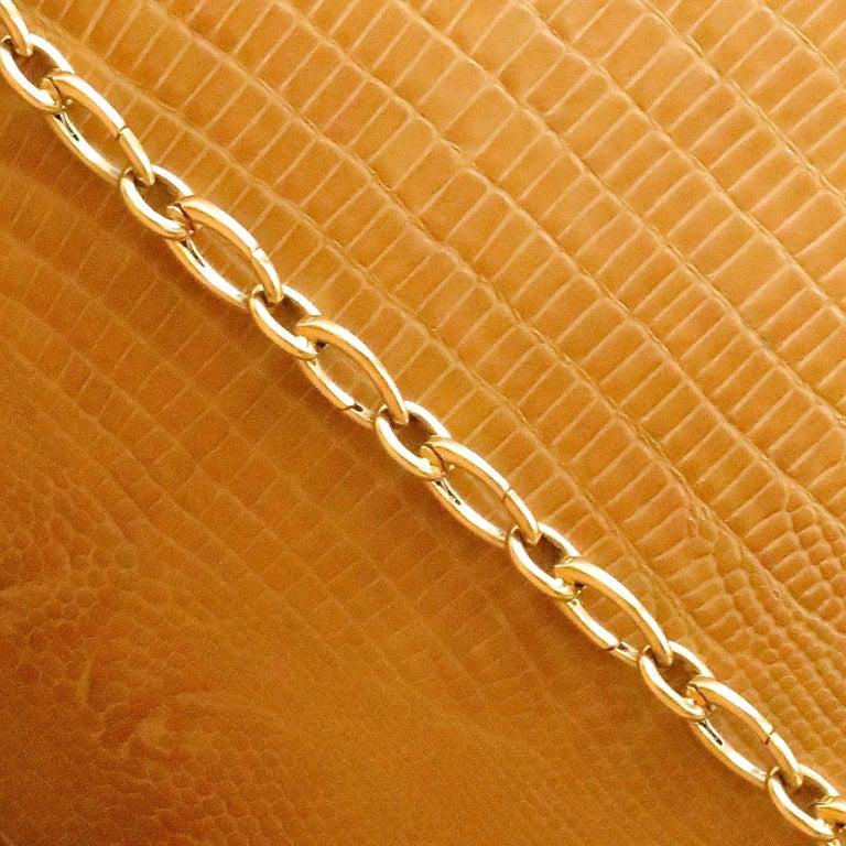 Women's Vintage Tiffany & Co. 18 Karat Gold Link Charm Holder Bracelet For Sale