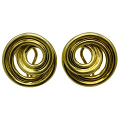 Vintage Tiffany & Co. 18K Yellow Gold Earrings