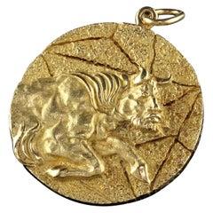 Vintage Tiffany & Co. 18k Yellow Gold Taurus Zodiac Pendant