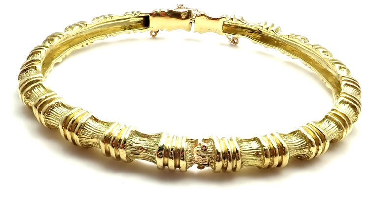 eb842a6a5 18k Yellow Gold Vintage Bamboo Bangle Bracelet by Tiffany & Co. Details:  Length 7.5