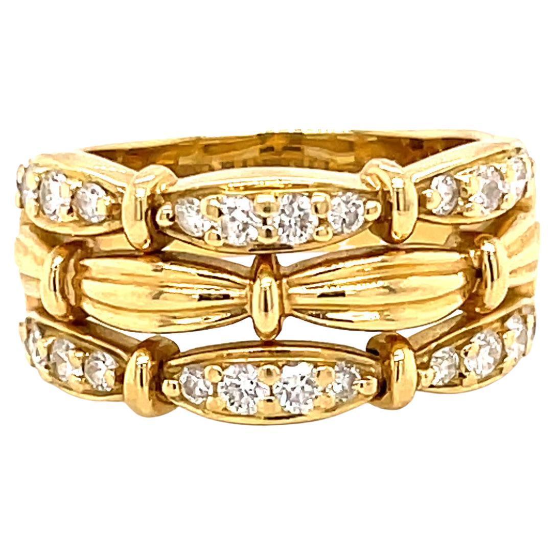 Vintage Tiffany & Co. Diamond 18 Karat Gold Ring