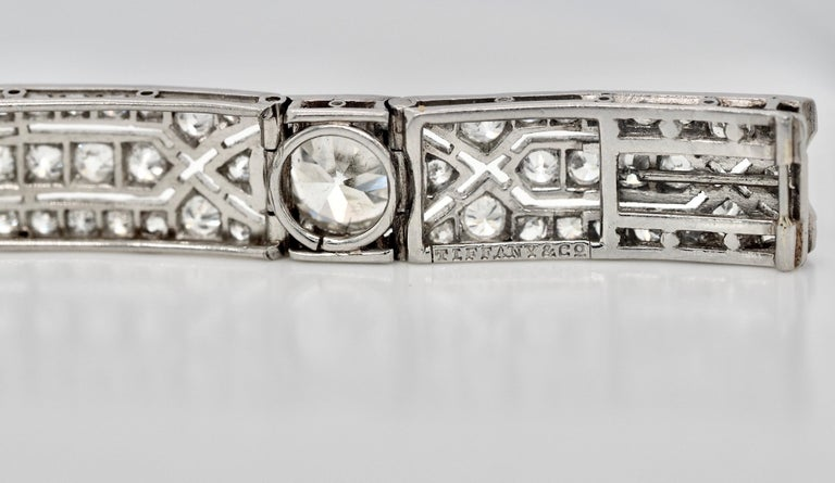 Vintage Tiffany & Co. Diamond Platinum Deco Bracelet, circa 1915 For Sale 4