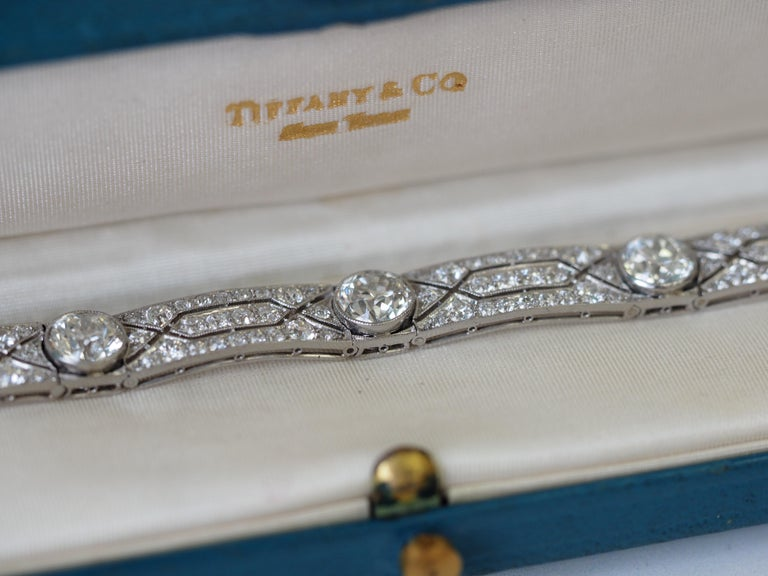 Vintage Tiffany & Co. Diamond Platinum Deco Bracelet, circa 1915 For Sale 7