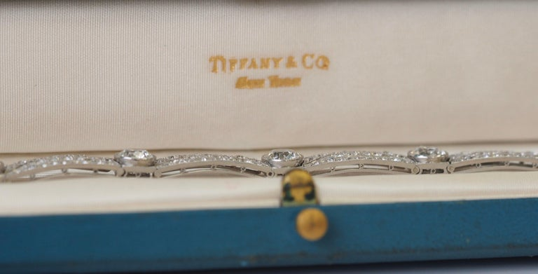 Vintage Tiffany & Co. Diamond Platinum Deco Bracelet, circa 1915 For Sale 9