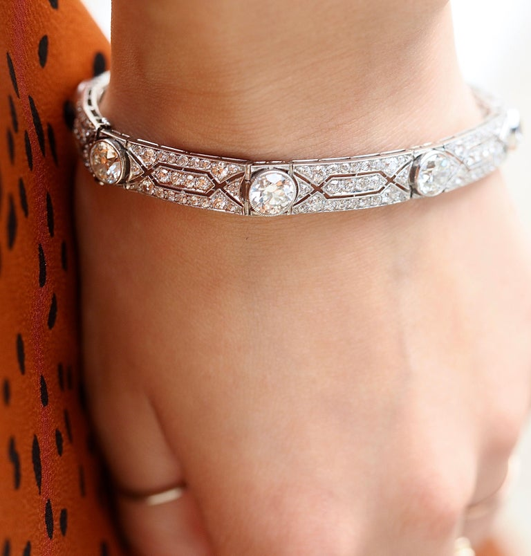Vintage Tiffany & Co. Diamond Platinum Deco Bracelet, circa 1915 For Sale 1