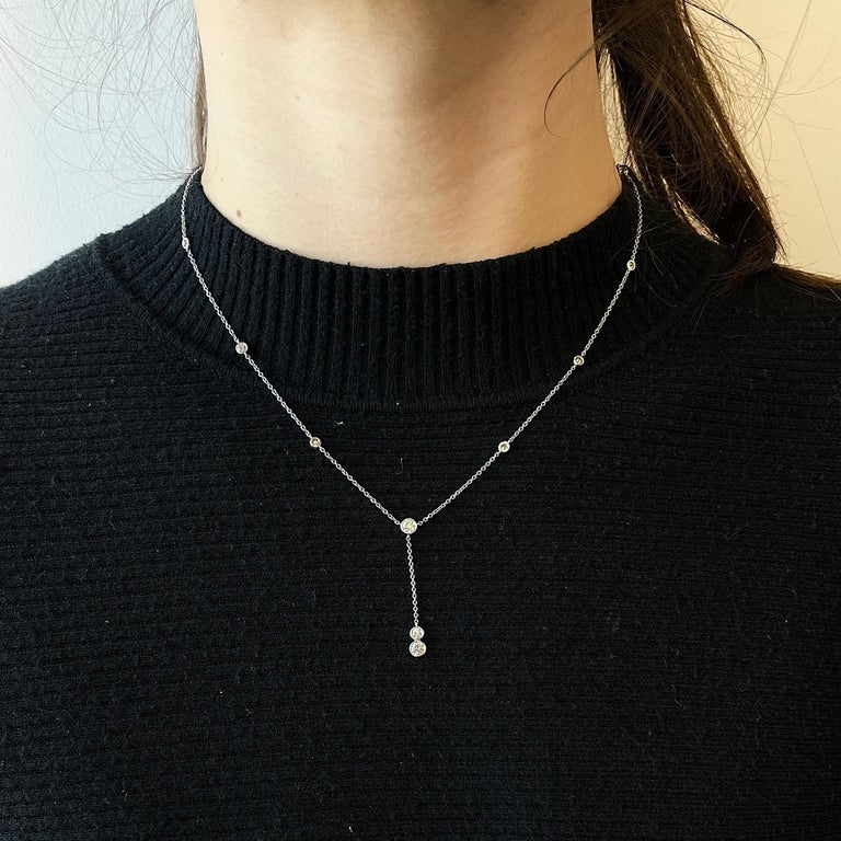 Fashion is subtle, effortless and elegant. If done right it should never go out of style and should be for every occasion. This Diamonds by the Yard necklace is especially desirable since its Vintage Tiffany & Co. Drop Pendant Necklace. The necklace
