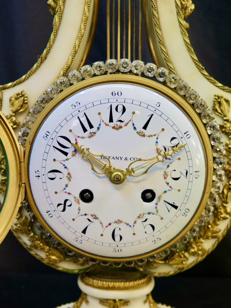 Faceted Vintage Tiffany & Co. Empire Clock For Sale