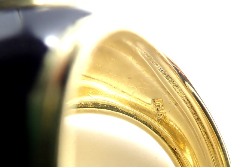 Vintage Tiffany & Co. Enamel Dome Yellow Gold Ring For Sale 2