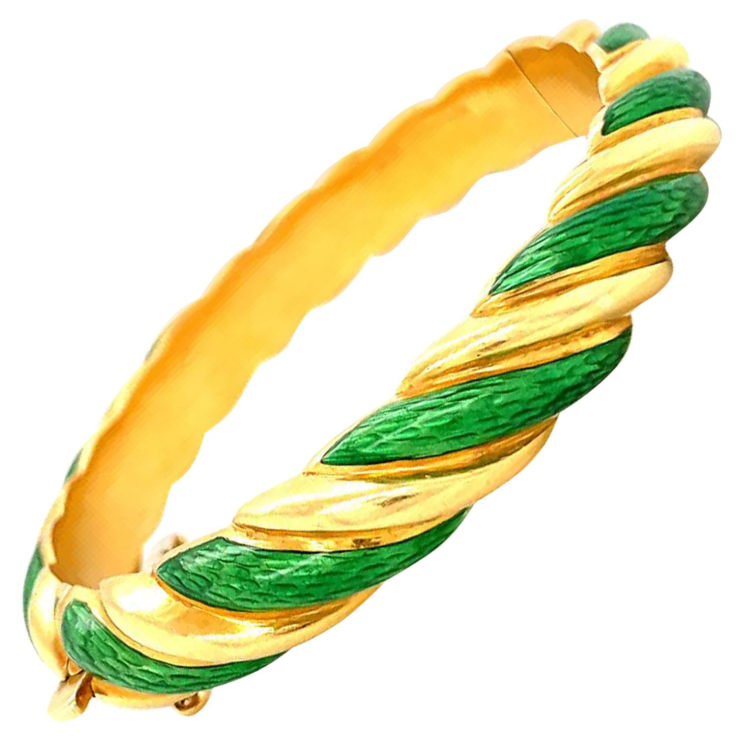 Vintage Tiffany & Co. Enamel Gold Bracelet