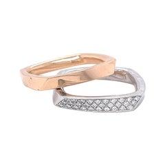 Vintage Tiffany & Co. Eternity Band Set Frank Gehry Diamond 18 Karat Gold Ring