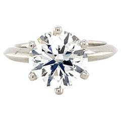 Vintage Tiffany & Co. GIA 1.64 Carat Diamond Platinum Solitaire Engagement Ring