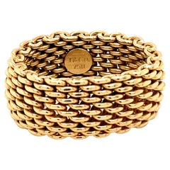 Vintage Tiffany & Co. Gold Mesh Band Ring