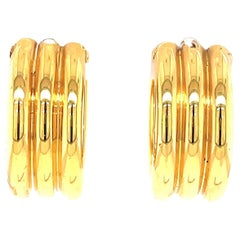 Vintage Tiffany & Co. Italy 18 Karat Gold Hoop Earrings