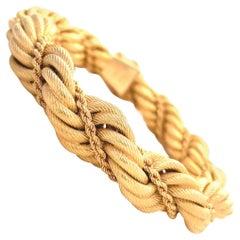 Vintage Tiffany & Co. Italy 18 Karat Gold Rope Bracelet
