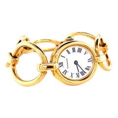 Vintage Tiffany & Co. Italy 18 Karat Gold Watch Bracelet