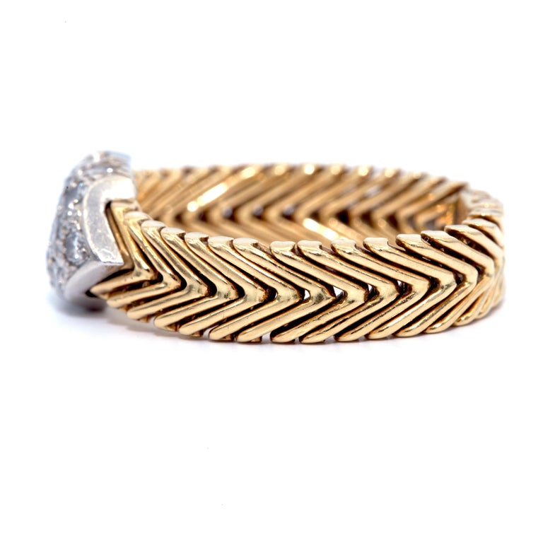 Art Deco Vintage Tiffany & Co. Paloma Picasso 18 Karat Diamond Ring For Sale