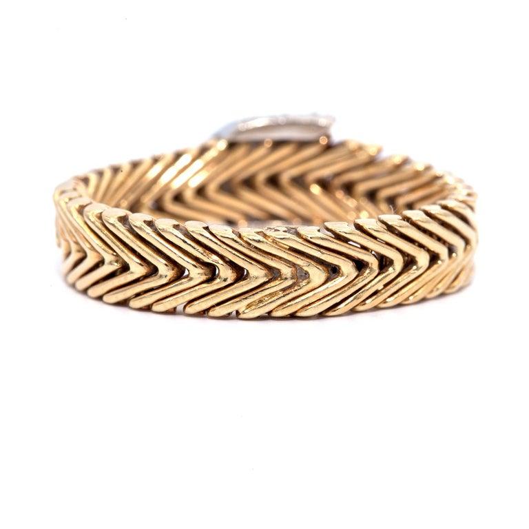 Round Cut Vintage Tiffany & Co. Paloma Picasso 18 Karat Diamond Ring For Sale