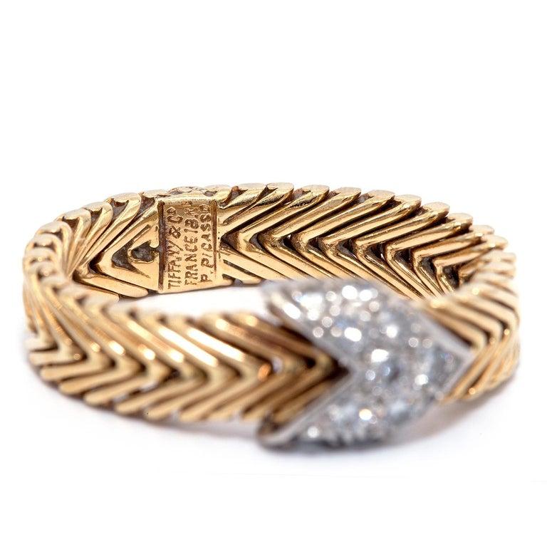 Women's or Men's Vintage Tiffany & Co. Paloma Picasso 18 Karat Diamond Ring For Sale