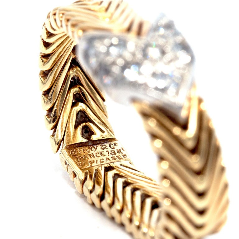 Vintage Tiffany & Co. Paloma Picasso 18 Karat Diamond Ring For Sale 1