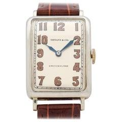 Vintage Tiffany & Co. Rectangular-Shaped 18 Karat Gold Watch, 1920s-1930s