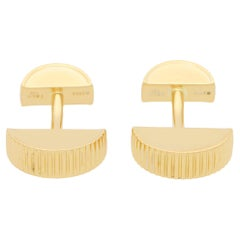 Vintage Tiffany & Co. Retro Cufflinks in Solid 18k Yellow Gold