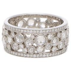 Vintage Tiffany & Co. Rose Cut Diamond Cobblestone Band Eternity Ring