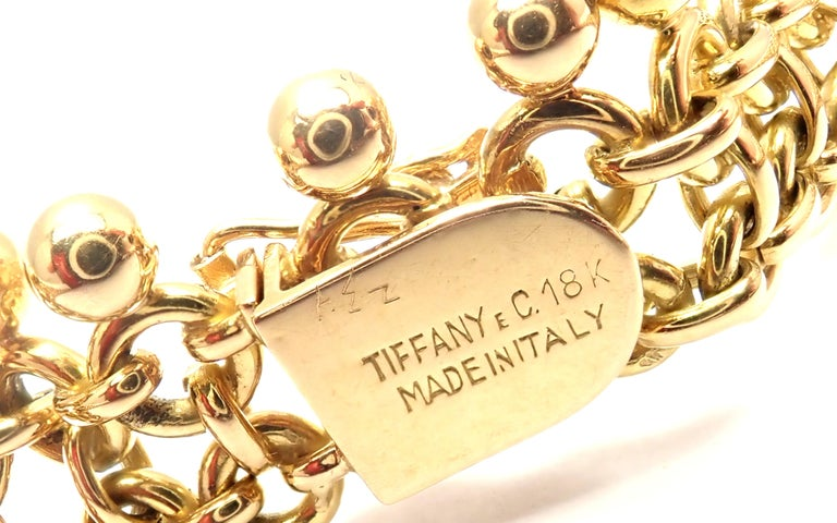 Women's or Men's Vintage Tiffany & Co. Ruby Collar Yellow Gold Necklace For Sale